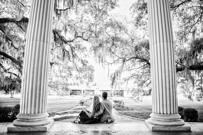 Clay & Amanda | Engagement photoshoot at The Crescent, Valdosta GA