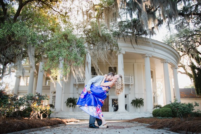 Engagement photoshoot at The Crescent, Valdosta GA