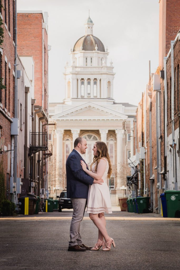 Velas Studio engagement session valdosta downtown