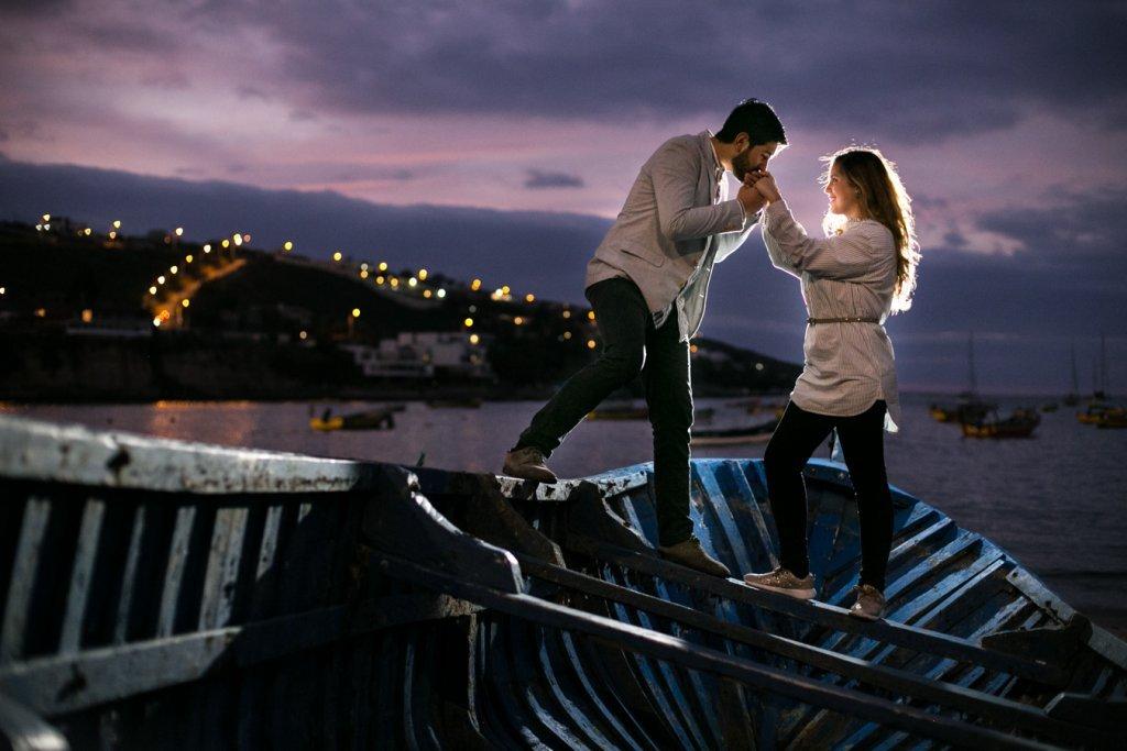 Bryan & Astrid fotos en las orillas de la Serena, Coquimbo, Chile