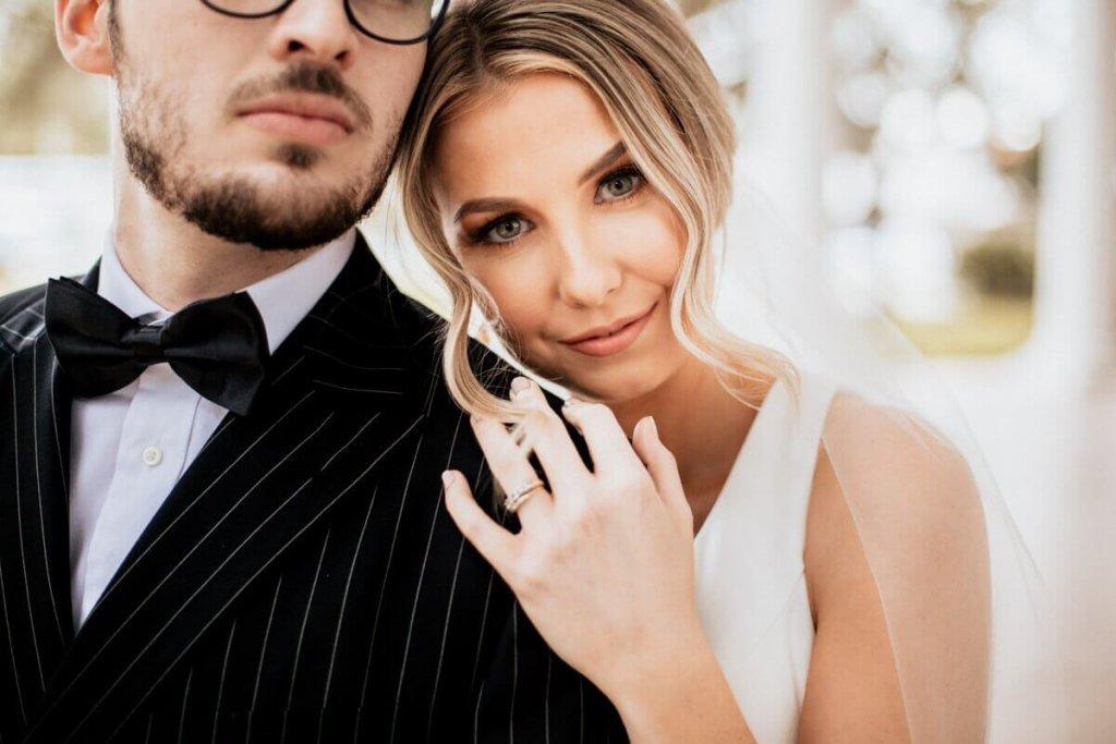 Bride and Groom in Valdosta Georgia