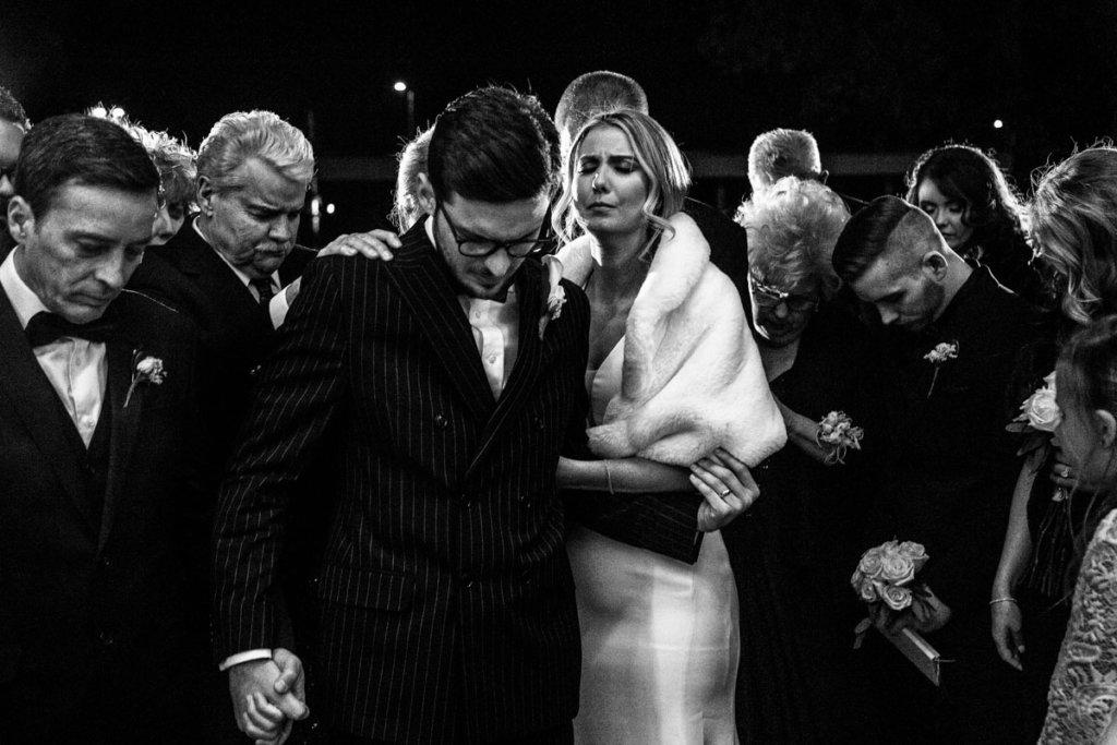 wedding Couple praying