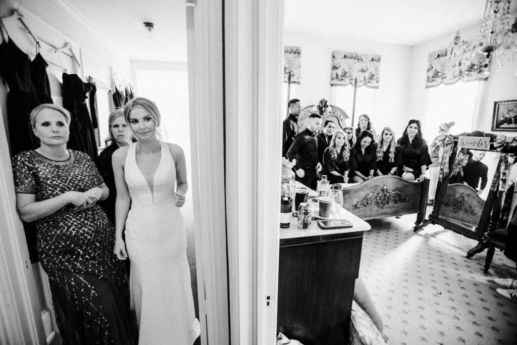 Bride with wedding party