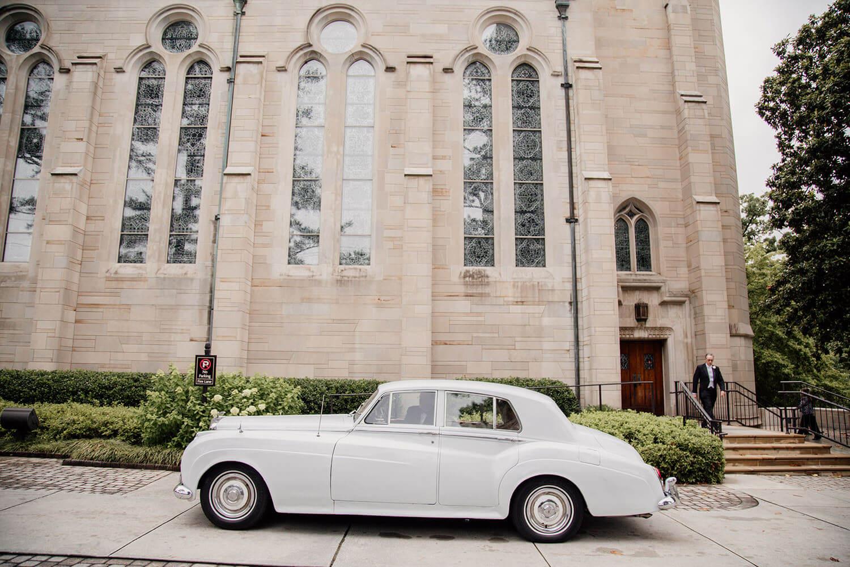 vintage car for wedding in atlanta