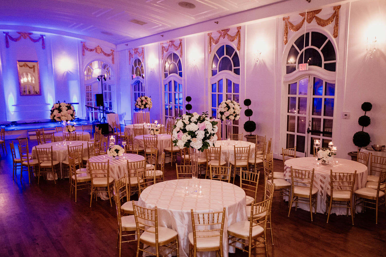 The reception took place at The Wimbish House