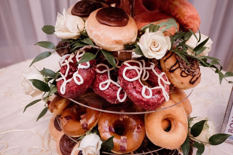 Wedding donut cake tower