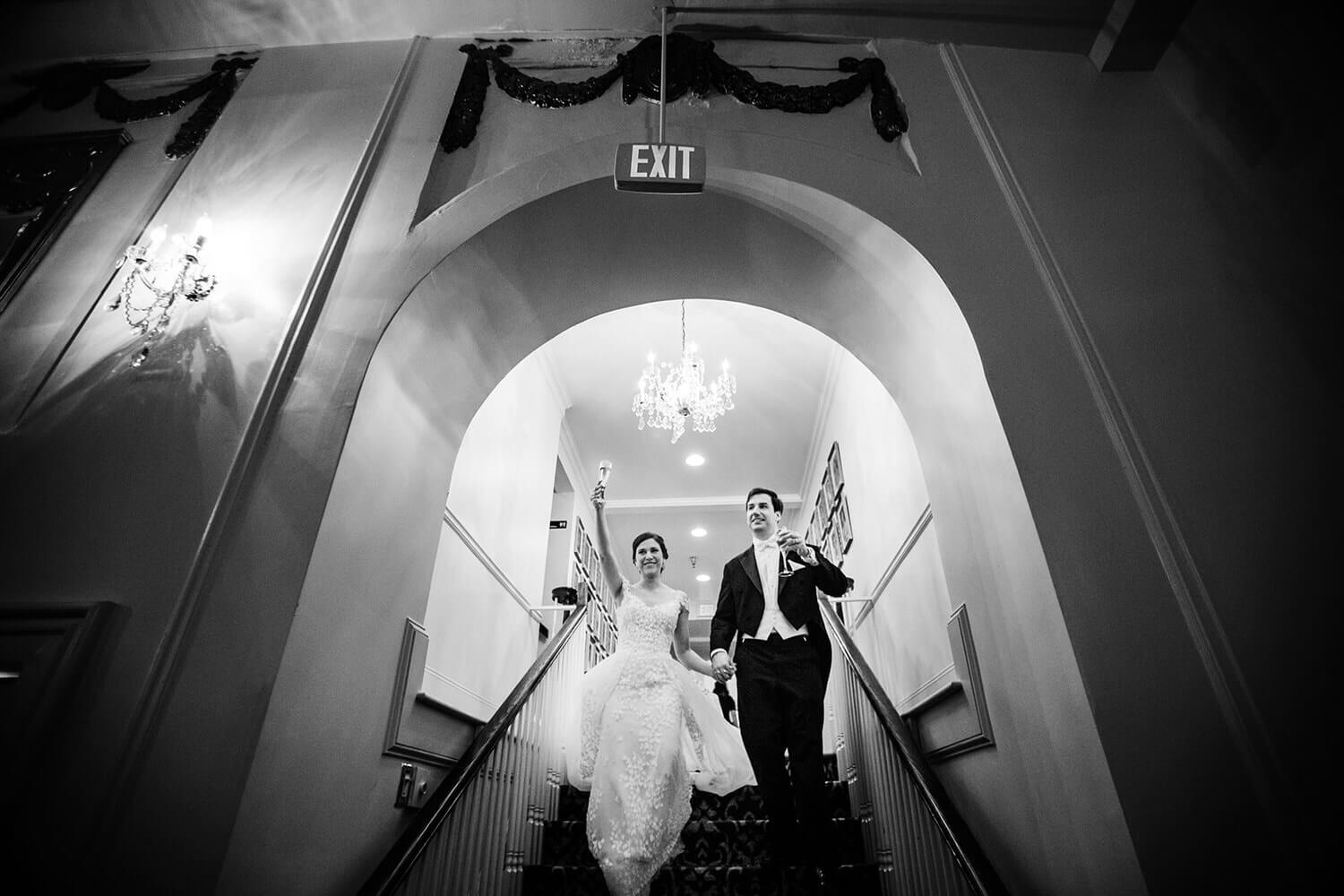 bride and groom Wedding at The Wimbish House
