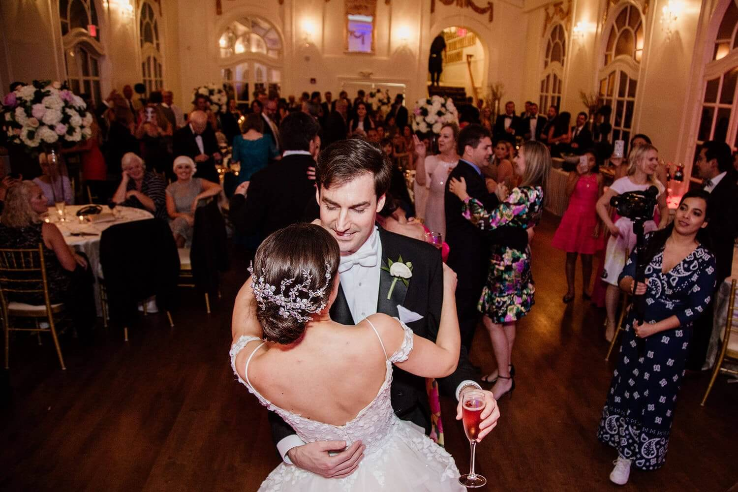 first dance at Wedding at The Wimbish House