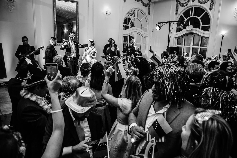 Wedding party at The Wimbish House venue in Atlanta Georgia