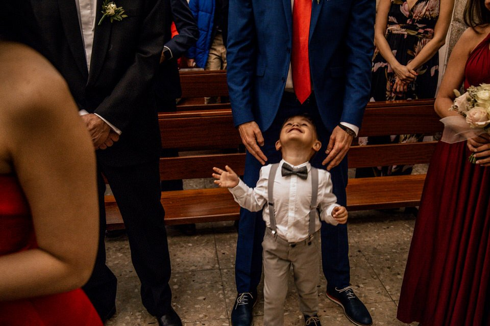 happy kid in wedding