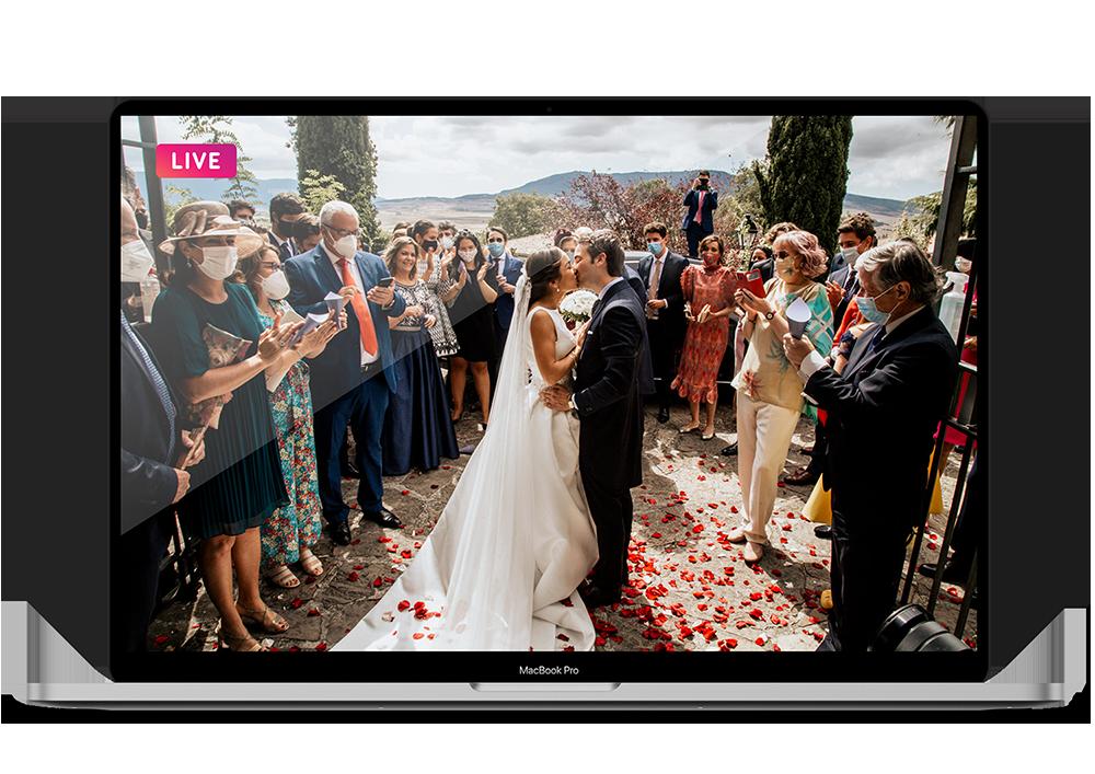 live streaming para bodas