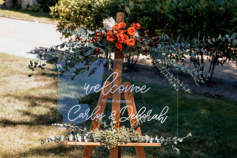 letrero de bodas