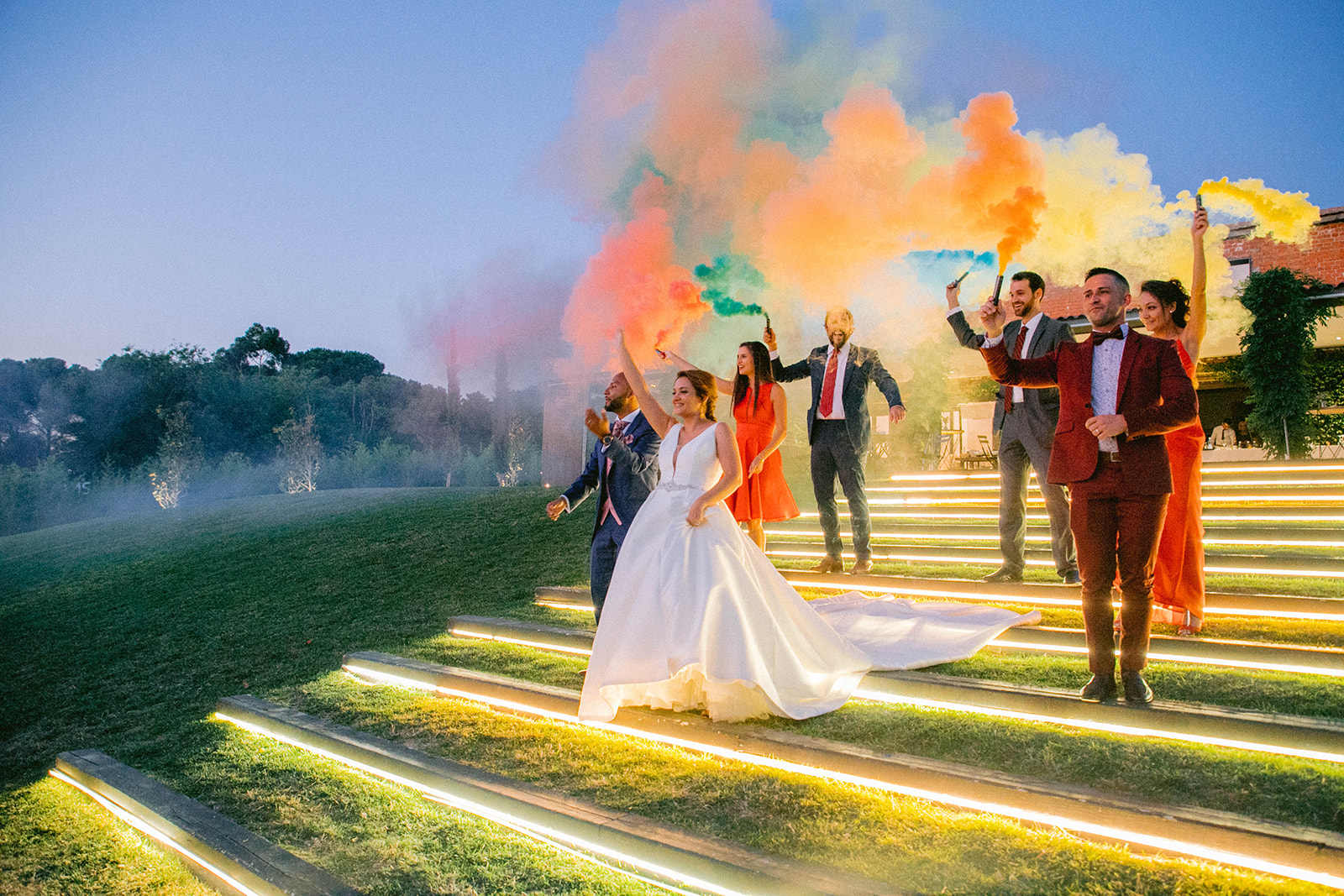 humo para fotos boda