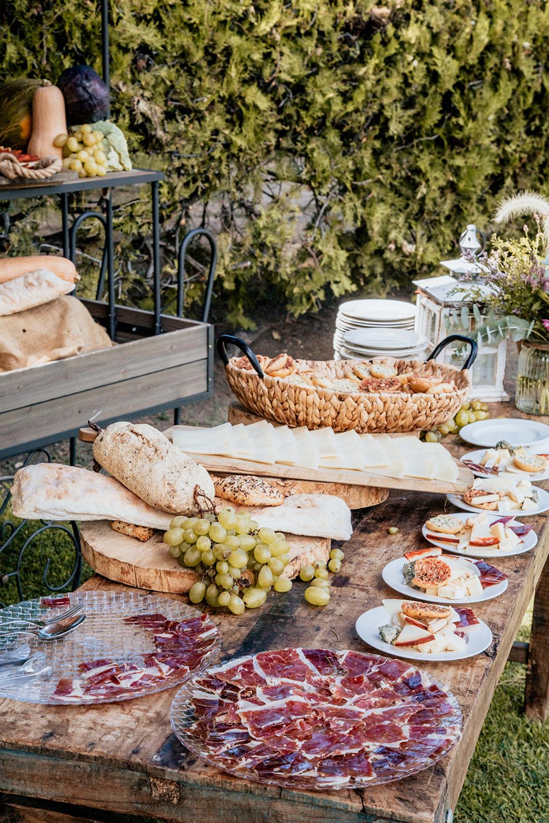 comida en la boda