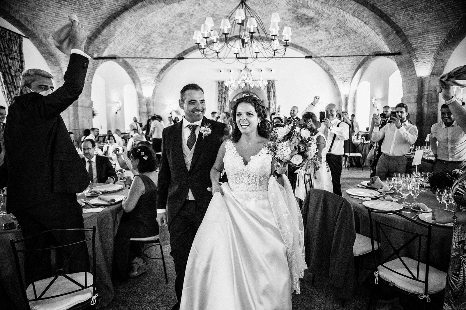 pareja en Boda en Pabellon de Caza Castillo de Viñuelas Madrid