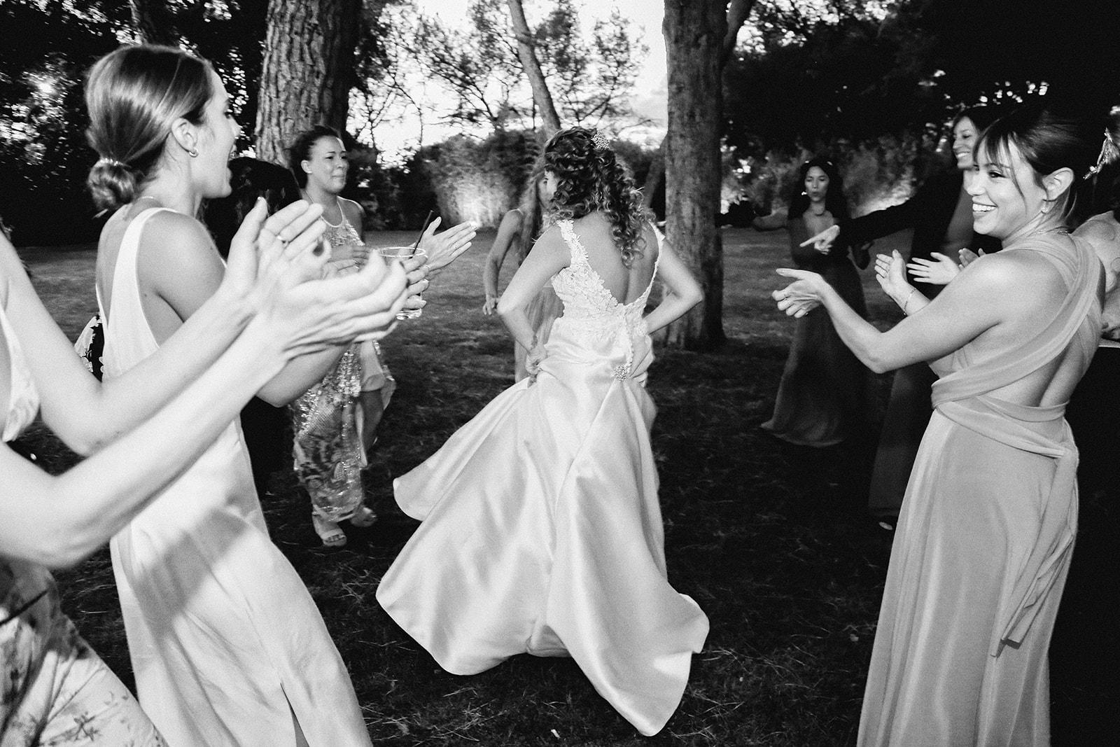 novia bailando flamenco en la boda Castillo de Viñuelas Madrid