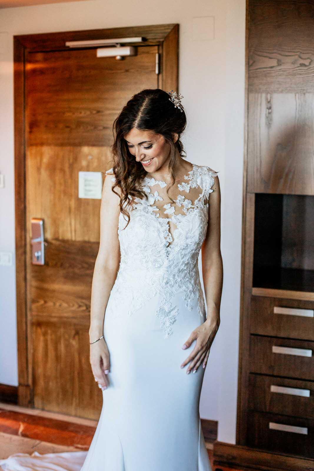 novia con vestido Pronovia