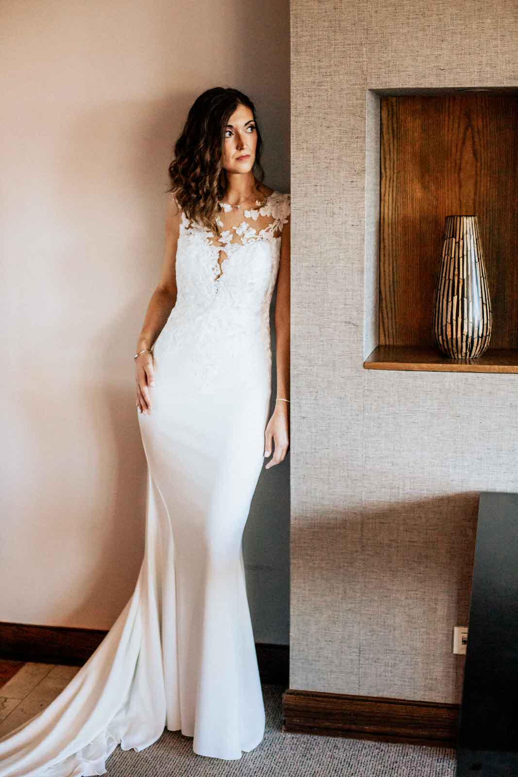 novia con vestido Pronovias