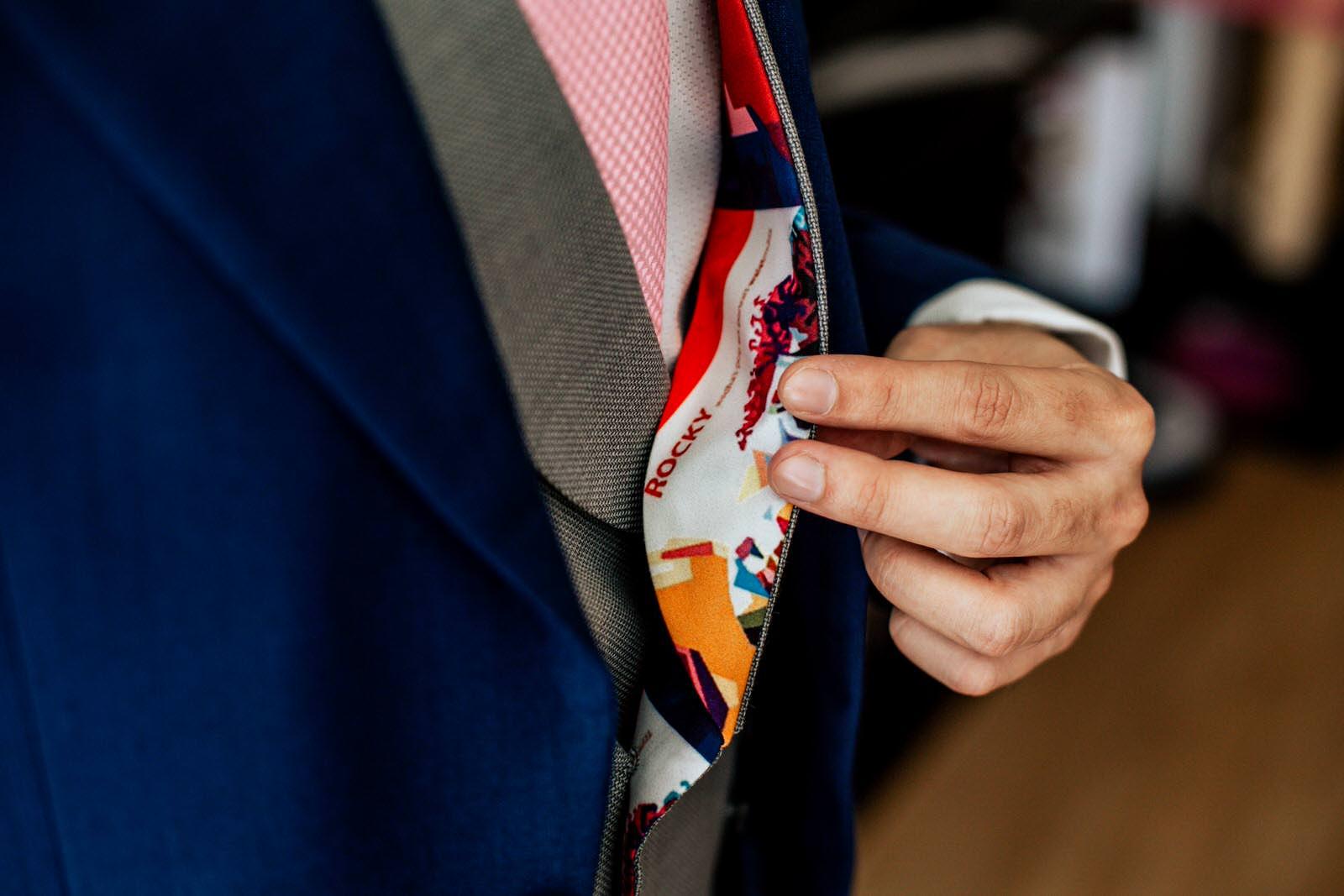 detalles de boda el novio rocky