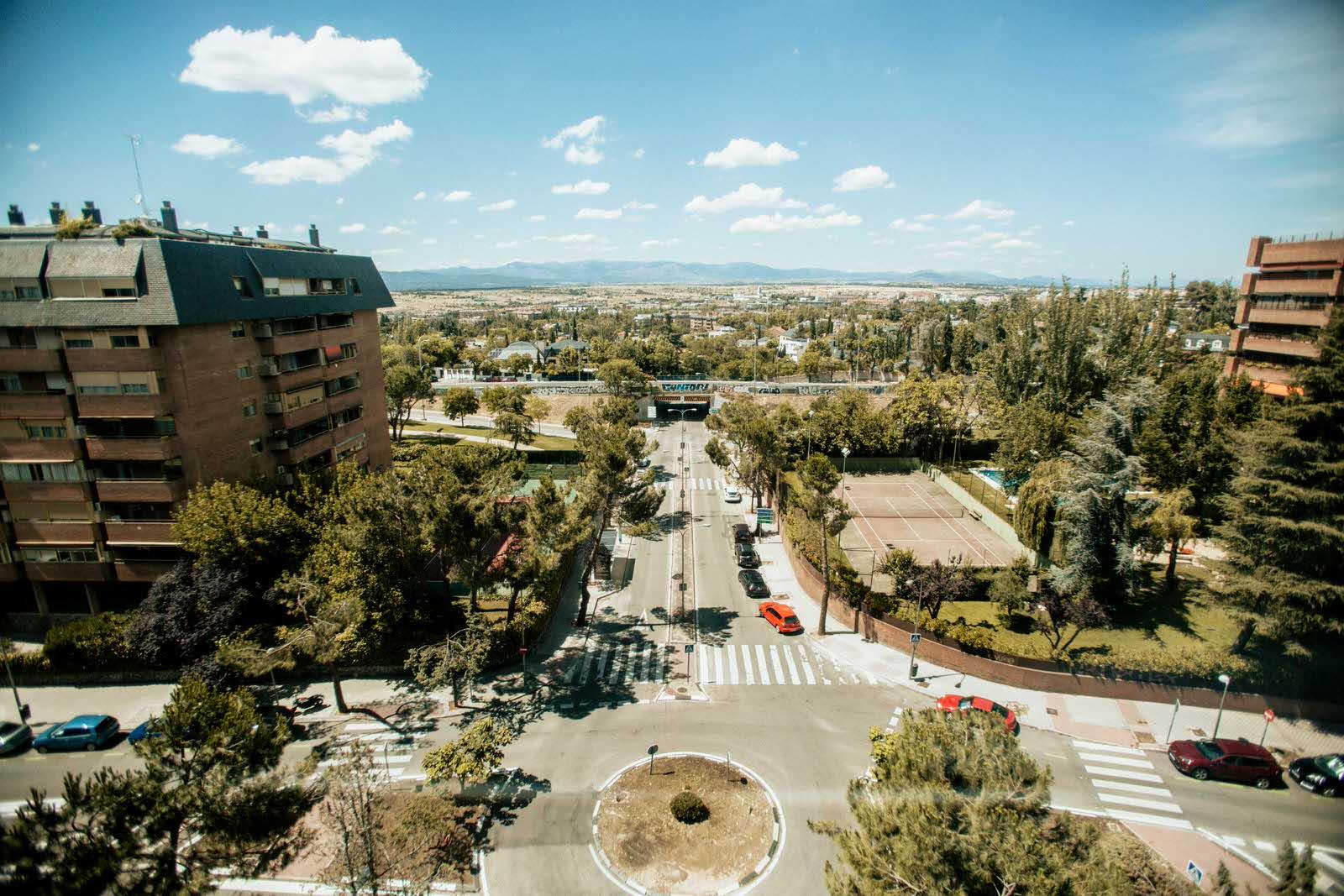 vista desde el Hotel Eurostar Suites Mirasierra